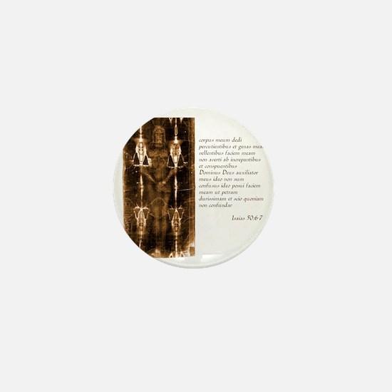 Isaiah 50-6-7 - Latin Mini Button