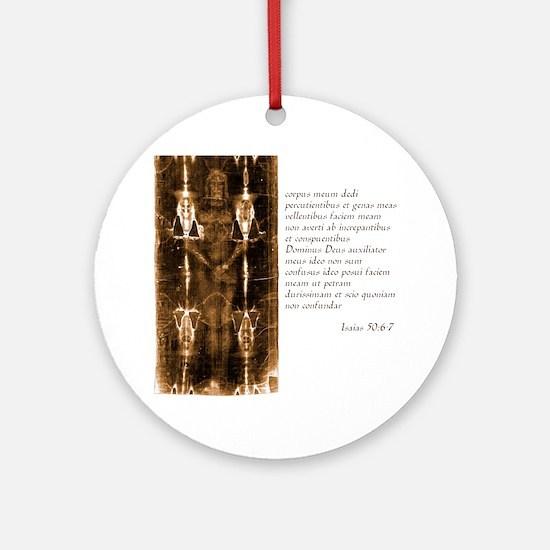 Isaiah 50-6-7 - Latin Round Ornament
