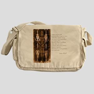 Isaiah 50-6-7 - Latin Messenger Bag