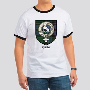 Hunter Clan Crest Tartan Ringer T