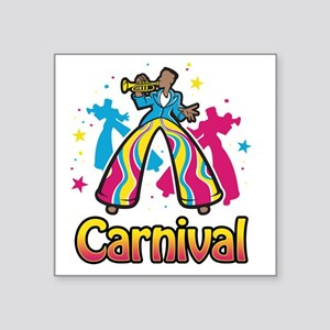 "carnival01_both Square Sticker 3"" x 3"""