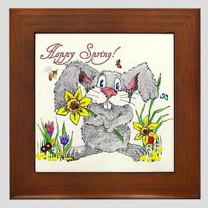 Hoppy Spring Framed Tile