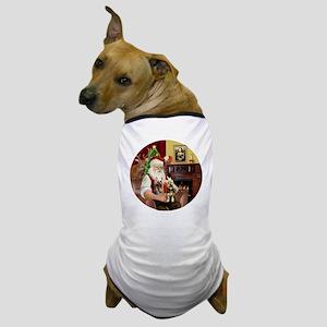 (R) Santa - Silky Terriers (TWO) Dog T-Shirt