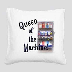 Queen of The Machine Square Canvas Pillow
