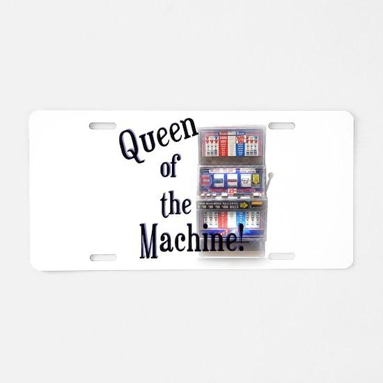 Queen of The Machine Aluminum License Plate