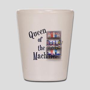 Queen of The Machine Shot Glass