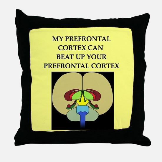 smart brain joke gifts apparel Throw Pillow