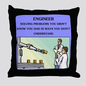 emgineer engineering joke gifts t-shirts Throw Pil