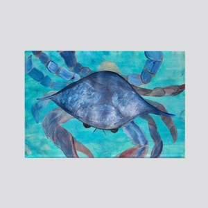 Blue Crab Blanket Rectangle Magnet