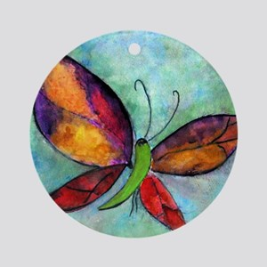 Butterfly Blanket Round Ornament