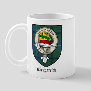 Kirkpatrick Clan Crest Tartan Mug