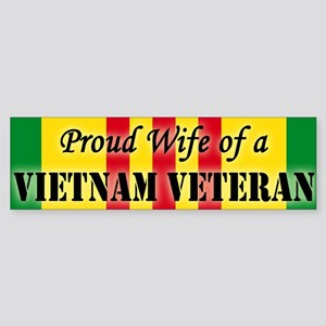 Vietnam Vet Wife Bumper Sticker
