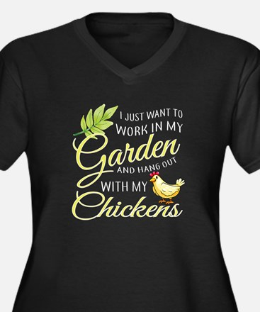Hang Out With Chickens In My Gar Plus Size T-Shirt