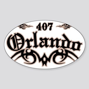 Orlando 407 Sticker (Oval)