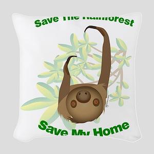 SaveSloth Woven Throw Pillow