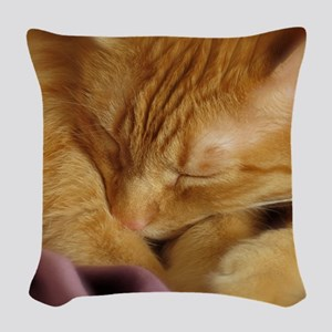 Tigers Aura Woven Throw Pillow
