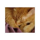 Cute cat Fleece Blankets