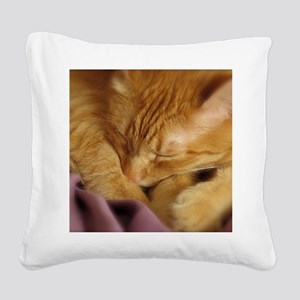 Tigers Aura Square Canvas Pillow