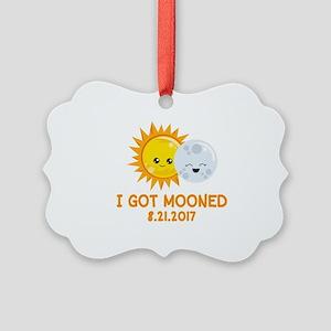 Funny Solar Eclipse | I Got Moone Picture Ornament