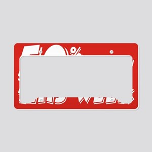 50% week License Plate Holder