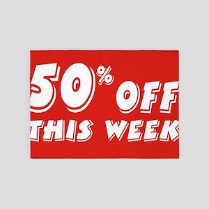 50% week 5'x7'Area Rug