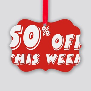 50% week Picture Ornament