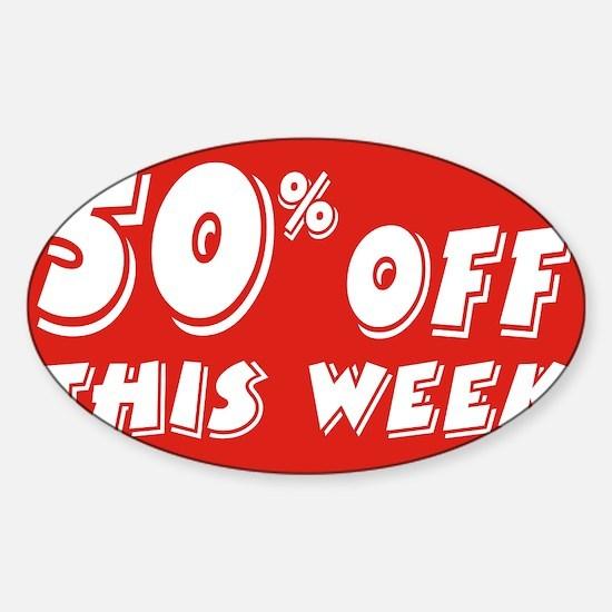 50% week Sticker (Oval)