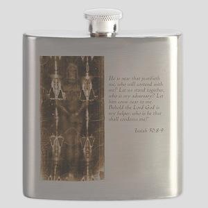 Isaiah 50-8-9 Flask