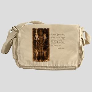 Isaiah 50-8-9 Messenger Bag