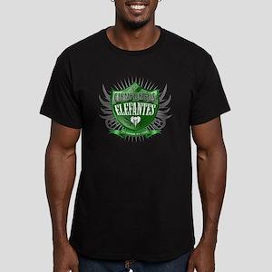 CienfuegosShield_Light Men's Fitted T-Shirt (dark)
