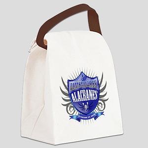 AlmendaresShield_Dark Canvas Lunch Bag