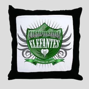 CienfuegosShield_Dark Throw Pillow