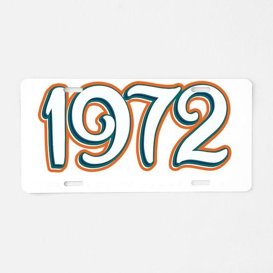 1972_Dark Aluminum License Plate