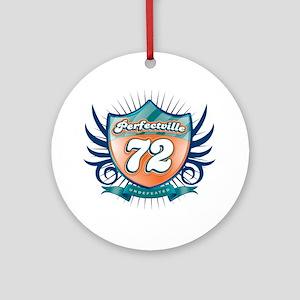 Perfecville72_Dark Round Ornament