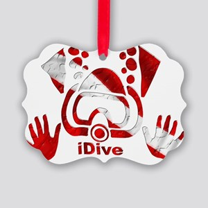 Idive 2010 dive flag 4 lite Picture Ornament