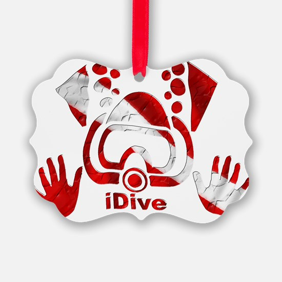 Idive 2010 dive flag 4 lite Ornament