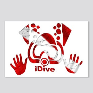 Idive 2010 dive flag 4 li Postcards (Package of 8)