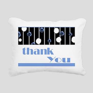 Thank you note cards blu Rectangular Canvas Pillow