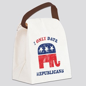 i_only_date_republicans_light Canvas Lunch Bag