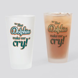 DolphinsMakeMeCry_Dark Drinking Glass