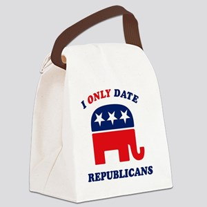 i_only_date_republicans_dark Canvas Lunch Bag