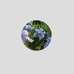Delicate light blue irises Mini Button