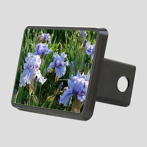 Delicate light blue irises Rectangular Hitch Cover