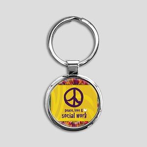 PeaceCalendar Round Keychain