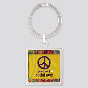 PeaceCalendar Square Keychain