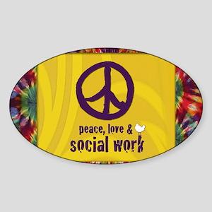 PeaceCalendar Sticker (Oval)