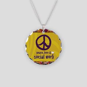 PeaceCalendar Necklace Circle Charm