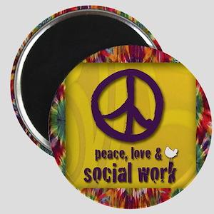 3-PeaceLogo Magnet