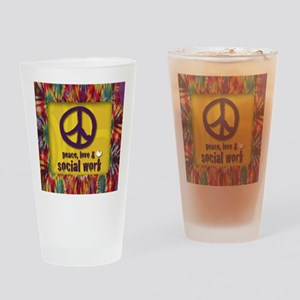 3-PeaceLogo Drinking Glass