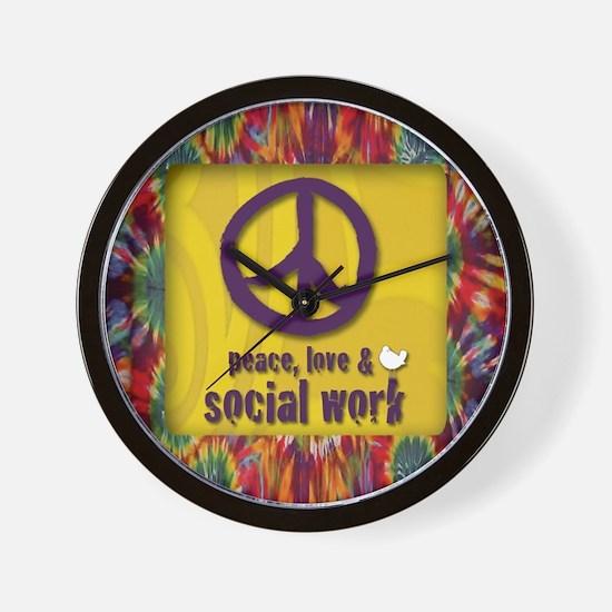3-PeaceLogo Wall Clock